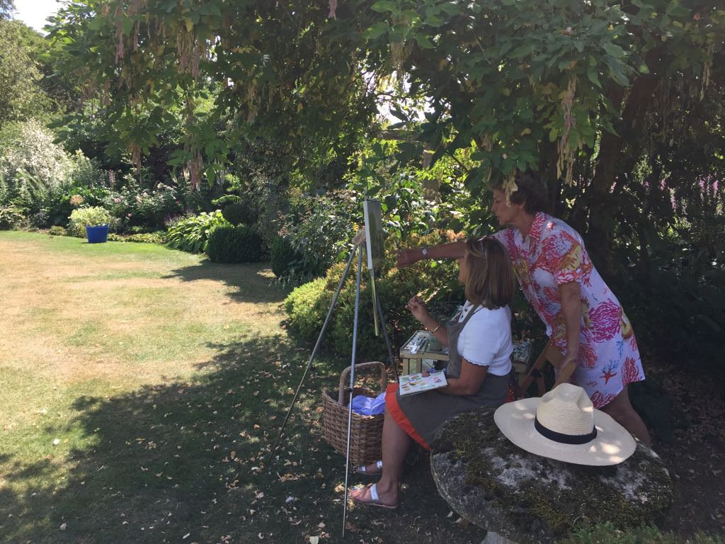 Painting in the garden2